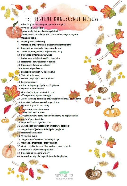 jesienna lista zadań