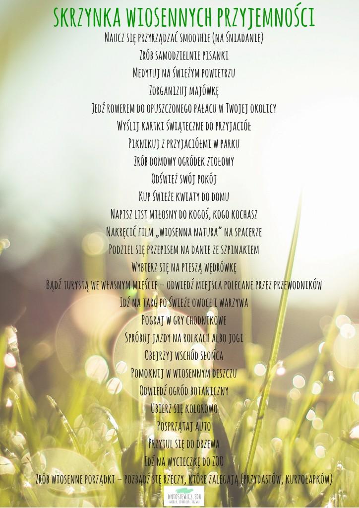 WIOSNA i skrzynka wiosennych przyjemności